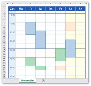 Terminplan Vorlage im Excel Format