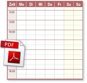 Zeitplan pdf files ideal zum Drucken