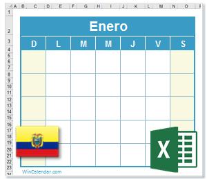 Calendario Con Excel.Calendario Excel 2017 Con Dias Feriados Ecuador