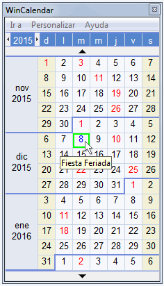 Calendario de Escritorio por Windows
