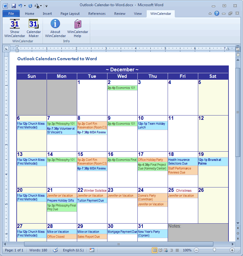 graphic relating to Printable Outlook Calendar identified as Switch Outlook Calendar towards Excel and Phrase