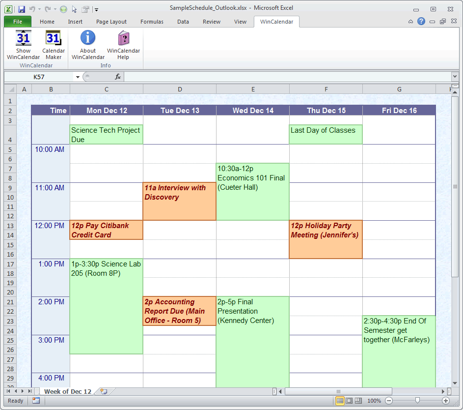 Good Schedule In Excel Inside Agenda Creator