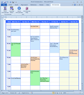 Schedule Calendar with appointments