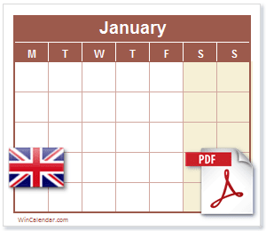 Calendar PDF United Kingdom