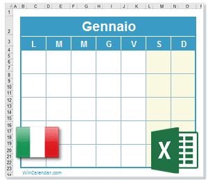 Calendario Aprile 2018 Con Festivita.Calendario Excel 2019 Con Giorni Festivi E Nazionali Italia