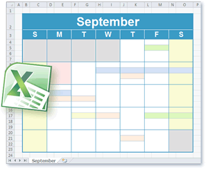 monthly calendar editable