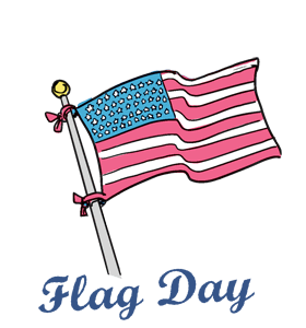 flag day calendar history events quotes when is fun facts rh wincalendar com flag day clipart flag day clipart