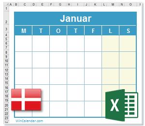 kalender 2017 danmark
