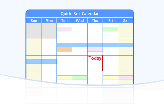 Online Reference Calendar with Holidays