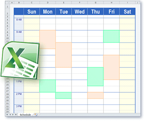 Schedule templates in excel format schedule template pronofoot35fo Gallery