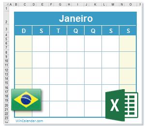 Calendario 2020 Com Feriados.Calendario Excel 2020 Com Feriados Brasil