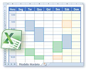 Modelos Horário Em Formato Excel